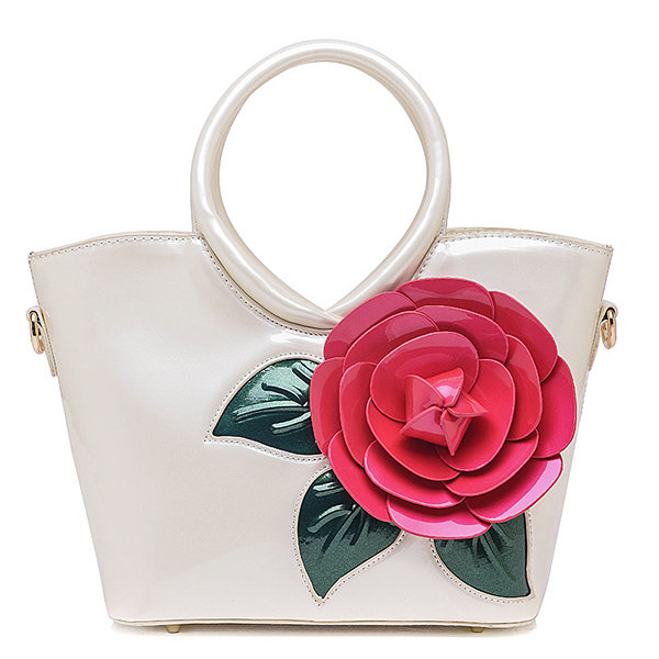 Mujer Bolso Casual de Perlas Coloful Flower Bolso Sweet Lady s