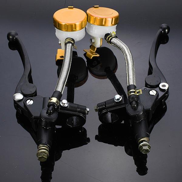 1pair 7/8inch Motorcycle Handlebar Hydraulic Brake Master Cylinder