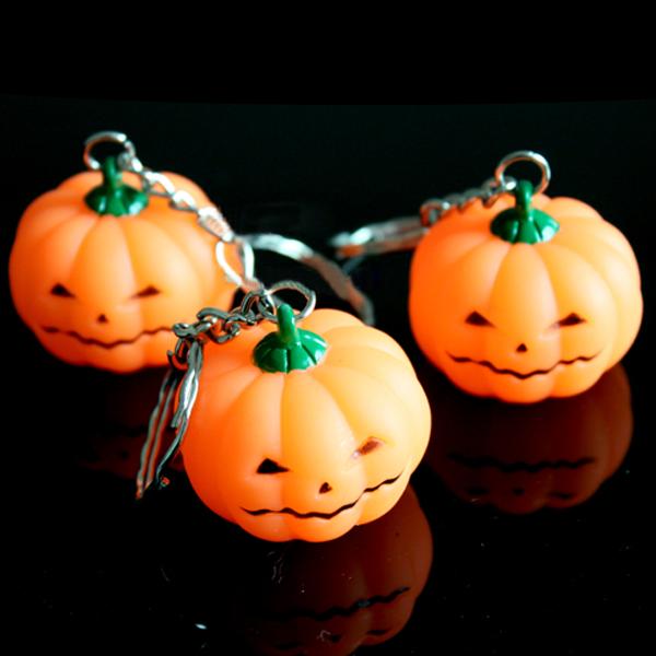 Pumpkin Bright Light LED Key Chain Halloween Toy gift