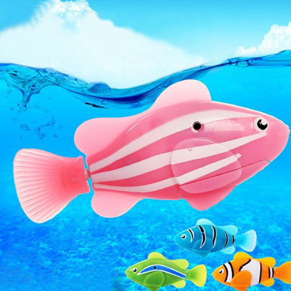 Popular Colorful Robot Electric Fish Toy Gifts for Kids Children - Photo: 3