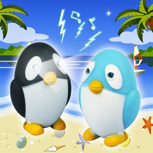 Penguin Luminous Sound LED Key Chain gift Toy