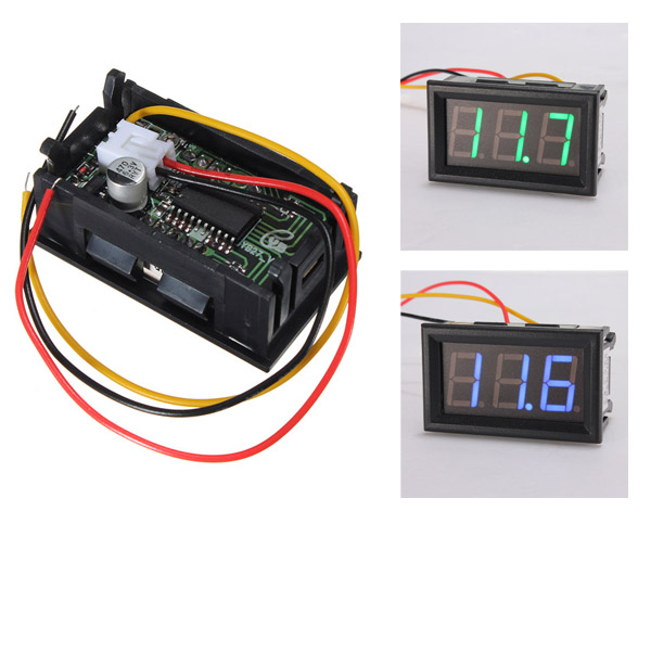 Digital Panel Meter 9v 3 5 : Led mini inch digital voltmeter panel meter dc