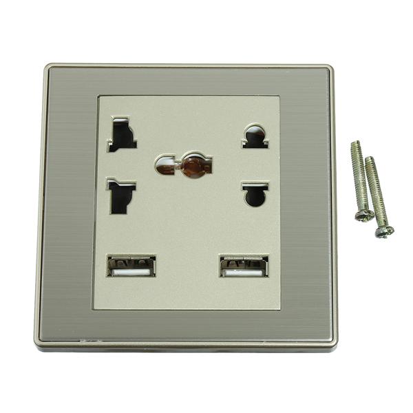 5v 1a recharge usb prise de courant murale de combinaison multifonctions sold out. Black Bedroom Furniture Sets. Home Design Ideas
