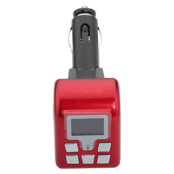 Buy 12V BT V2.0 MP3 Wireless FM Modulator BF-805 Red