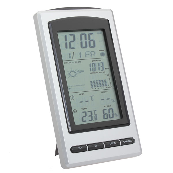 auto indoor outdoor funk wetterstation thermometer hygrometer us. Black Bedroom Furniture Sets. Home Design Ideas