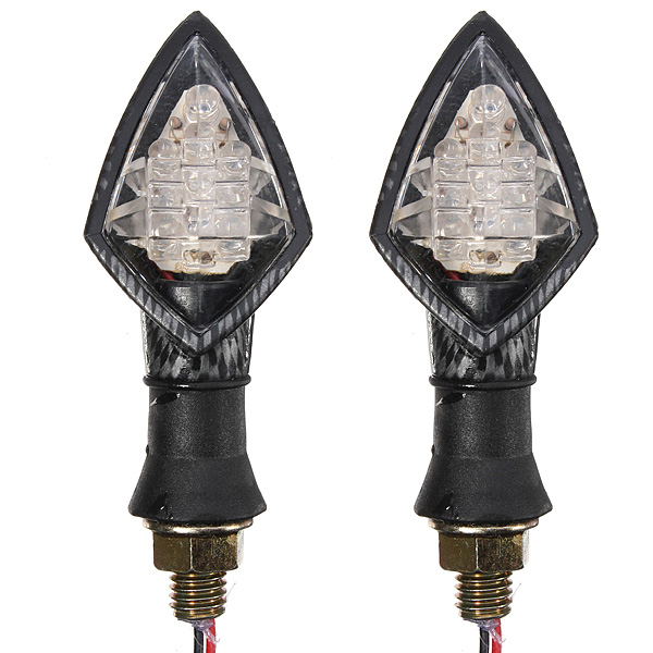 Motorcycle Motorbike Turn Signal Light Indicators Lamp Carbon