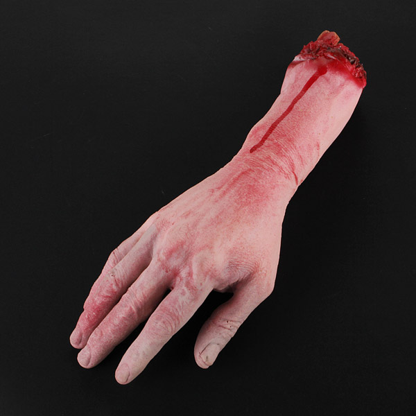 Terror New Severed Bloody Fake Lifesize Arms Hands Party Halloween ...