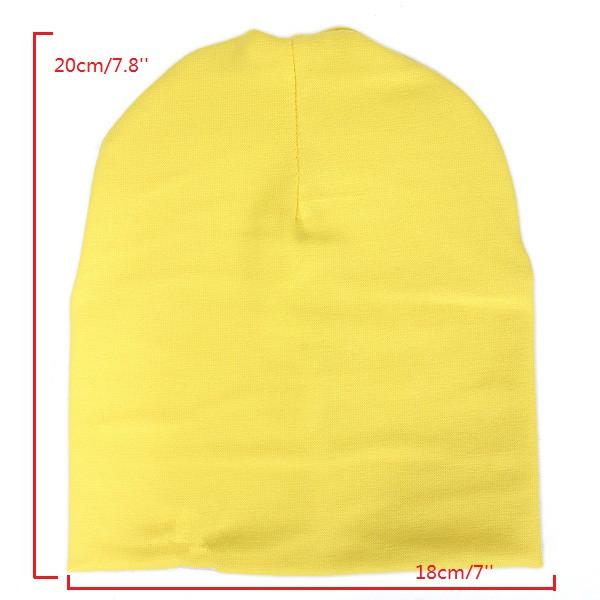 7 colores cráneo del algodón infantil del niño del bebé del sombrero del casquillo de la gorrita tejida