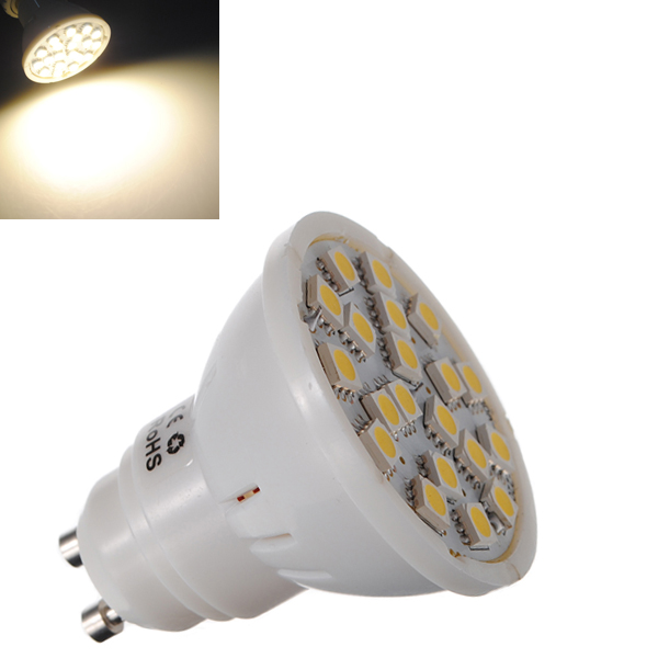 QooK GU10 Warm White 5050 SMD 24 LED Spotlight Lamp Bulb Energy Saving