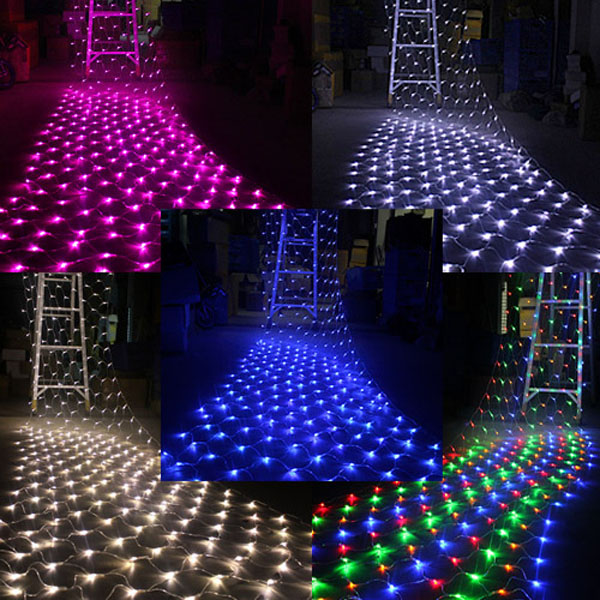 led net light 15m x 15m 100 leds xmas fairy lights eu plug 220v - Led Net Christmas Lights