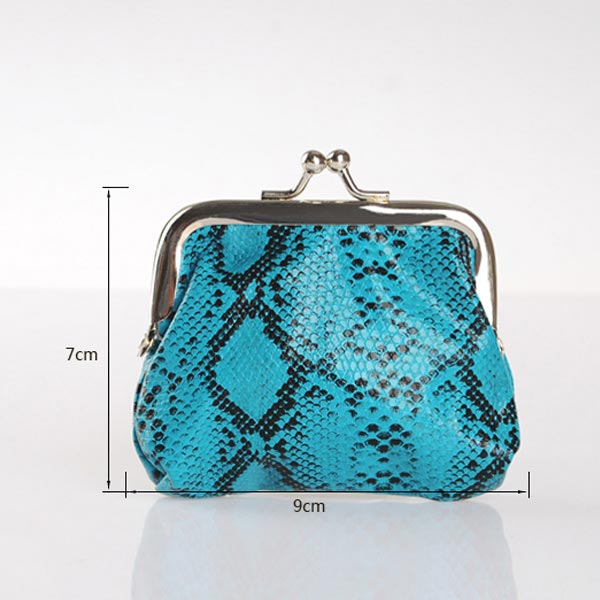 Sweet Girls Women Snake Grain PU Small Wallet Purse Coins Bag