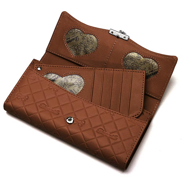 Handy Classical PU Leather Button Wallet Clutch Lady Long Handbag Women Wallet Coffee
