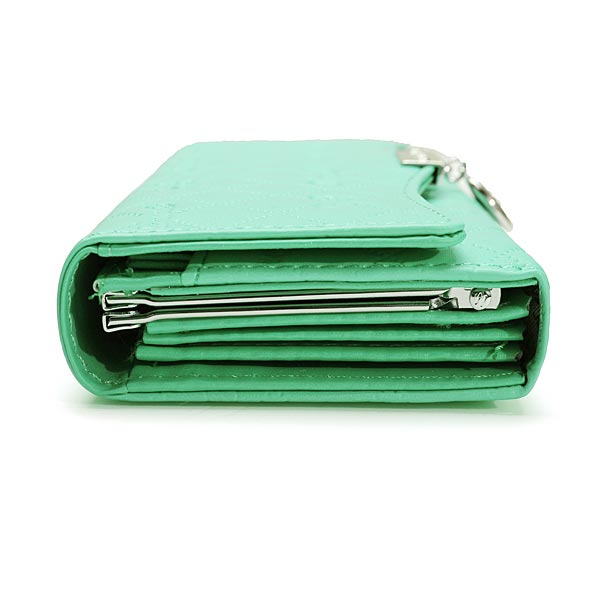 Handy Classical PU Leather Button Wallet Clutch Lady Long Handbag Women Wallet Light Green