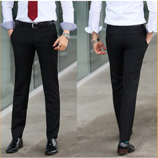 Mens Fit Easy Care Suit Leisure Formal Straight Trousers Pant - US ...