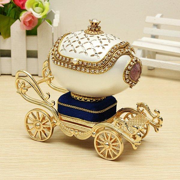 Royal Carriage Egg Carving Music Box DIY Gift - Photo: 4