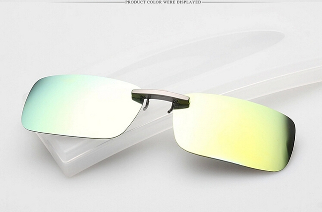 polarized clip on sunglasses sun glasses driving night vision lens for metal frame glasses