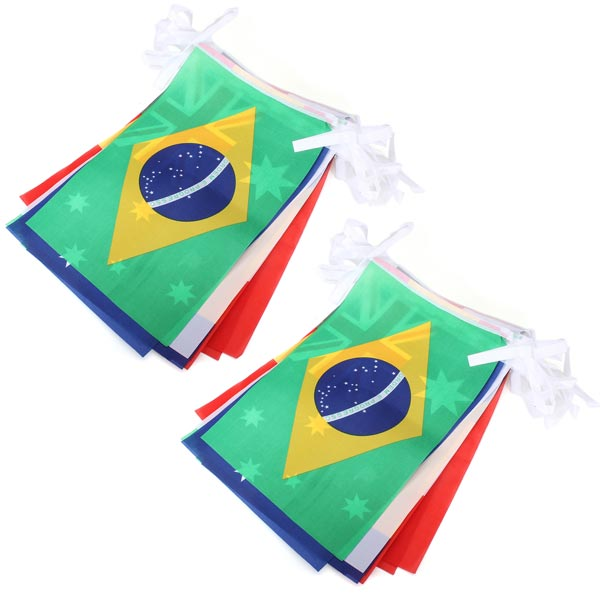 Brazil World Cup Top 32 String Flags Fans Bar Restaurant Decoration