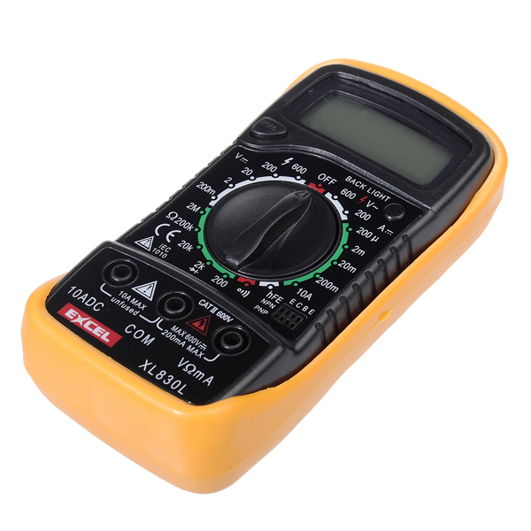 Xl830l lcd digital voltmeter ohmmeter ammeter ohm multimeter excel xl830l lcd digital volt meterr ohm meter ammeter ohm multi meters tester fandeluxe Images
