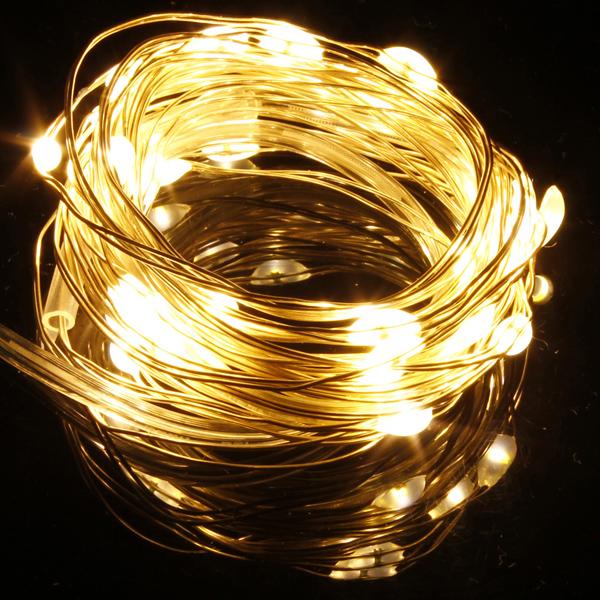 Warm White/White 10M 100LED Copper Wire LED String Lights Lamp 12V ...