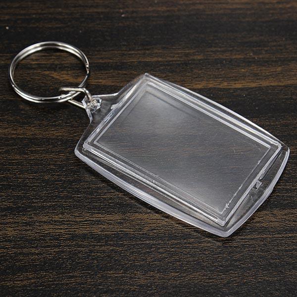 Blank Insert Picture Keychain