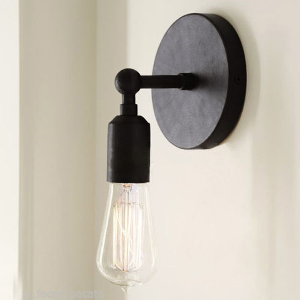 vintage brief retro style wall light sconce edison bulb lamp 220v us. Black Bedroom Furniture Sets. Home Design Ideas