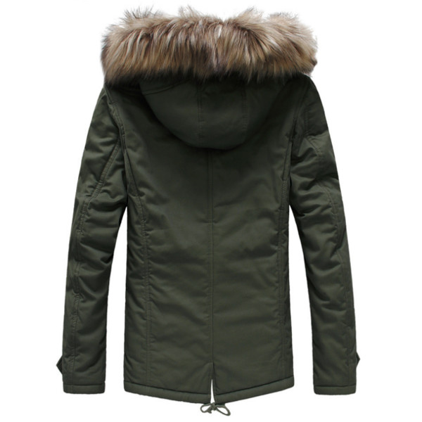 Mens Warm Cotton Winter Casual Jacket Upset Coats at Banggood