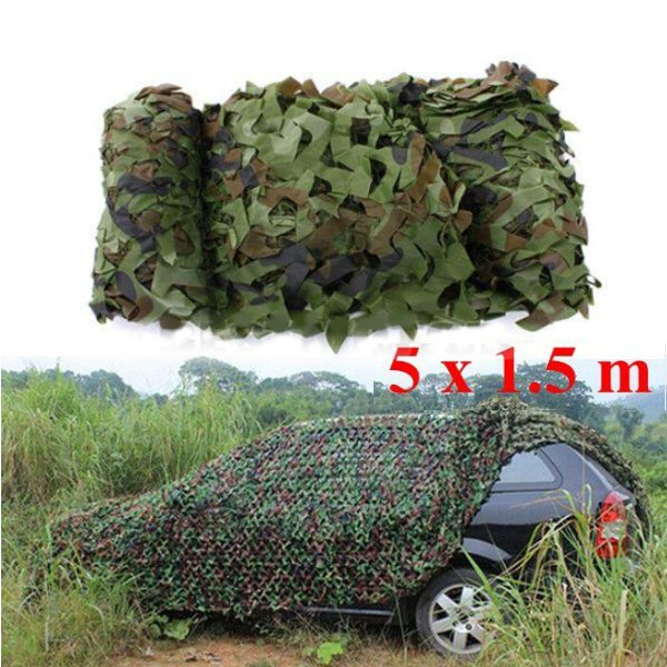 Buy 5mx1.5m Woodland Camouflage Camo Net For Camping Military Photography