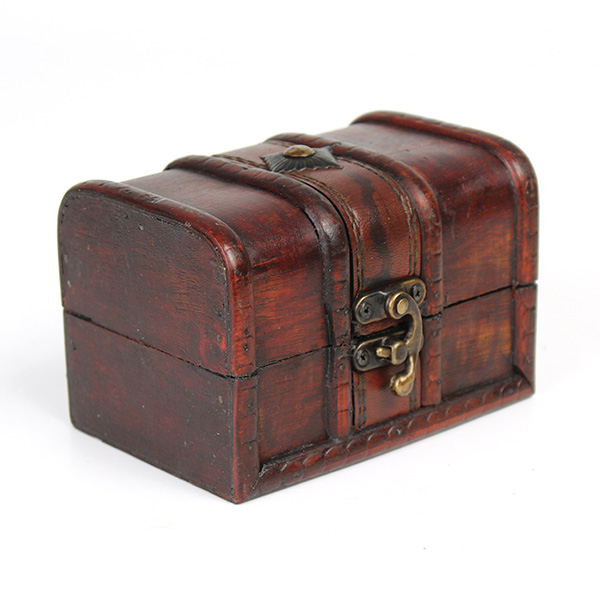 Vintage Wooden Jewelry Box Antique Storage Organizer Case ...
