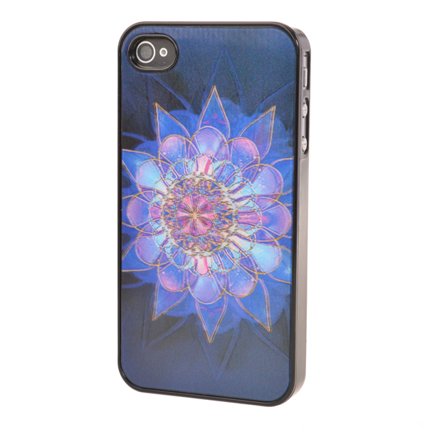3D Night Bright Flower Pattern Protective Case Cover For iPhone 4 4S