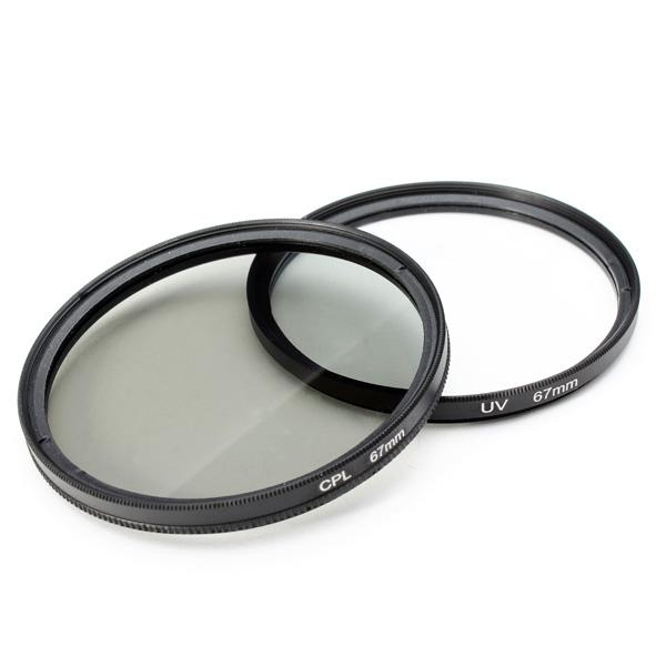 2Pcs 67MM UV Lens Filter And Polarizing CPL Filter Kit