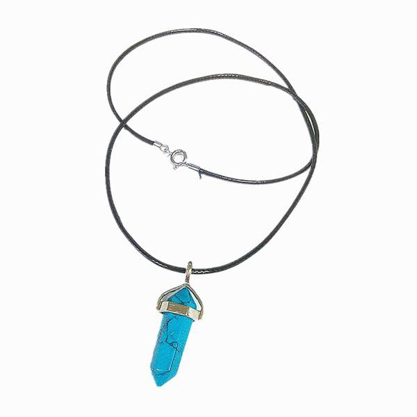 Column Quartz Pendant Necklace