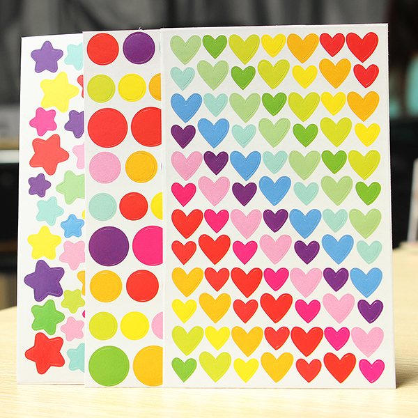 Buy 6 Sheet Colorful Rainbow Sticker Diary Planner Journal Albums Photo