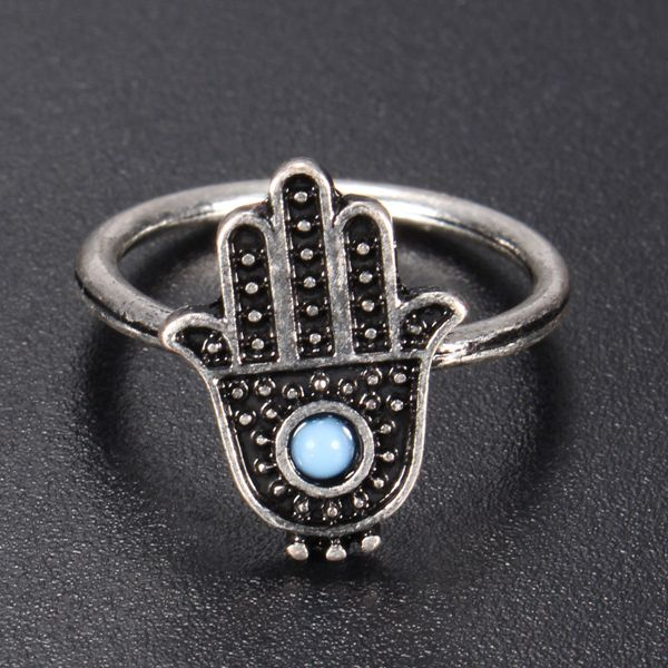 Hand Of Fatima Hamsa Ring