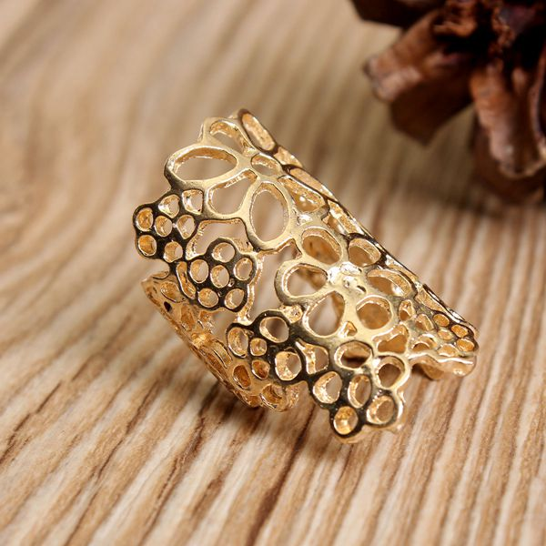 Hollow Out Lace Flower Ring