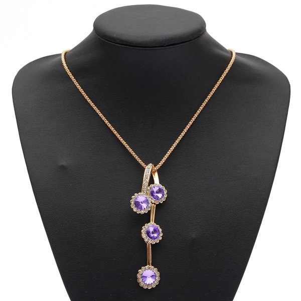 Circle Crystal Jewelry Sets