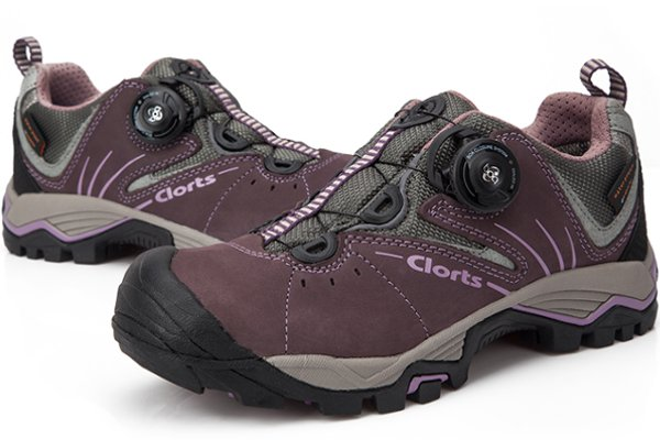 Clorts Women Waterproof Walking Hiking Leather Button Shoes