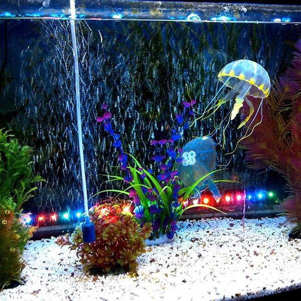 5 colour a set for artificial jellyfish vivid fish for Faux poisson aquarium
