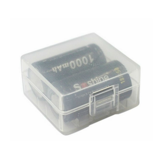 White Hard Plastic Battery Case Box For 2x18350 Battery