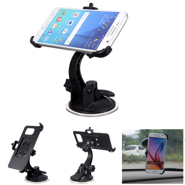 360 Rotating Car Windshield Mount Holder Stand For Samsung Galaxy S6/S6 Edge
