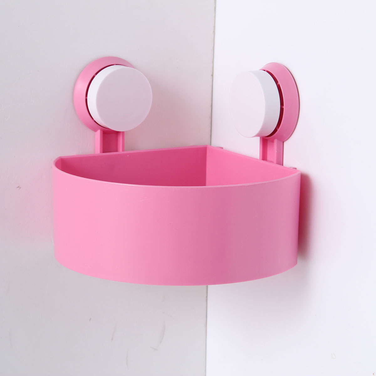 Bathroom Accessories With Suction Cups plastic bathroom wall corner shelf suction cup rack storage holder