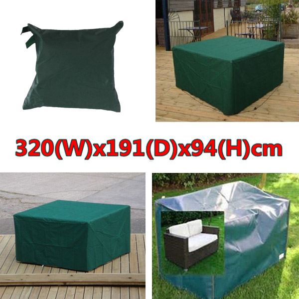 Buy 320cmx191x94cm Waterproof Garden Outdoor Furniture Dust Cover Table Shelter