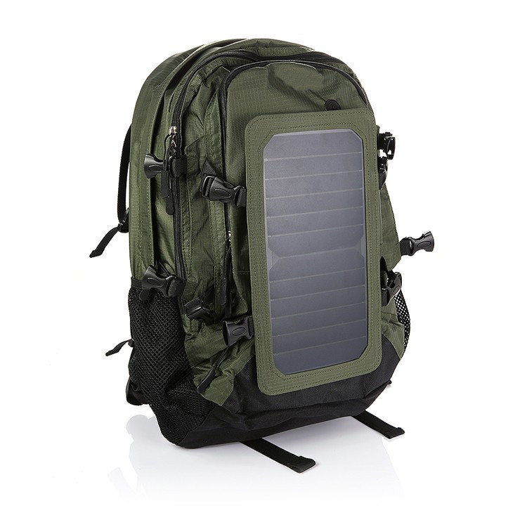 Buy Outdoor Solar Backpack Charger Back Pack Bag With Removable 6.5W Panel