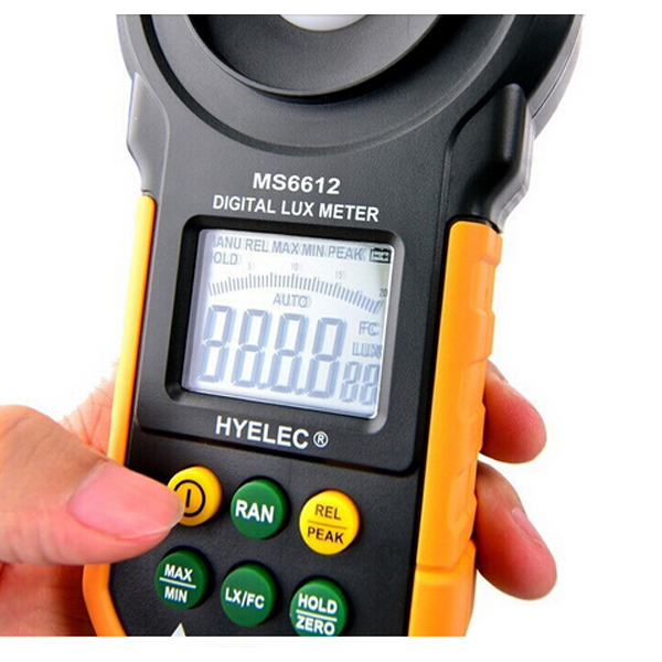 HYELEC MS6612 Digital Lux Meter Handheld Multifunction Meter for Light