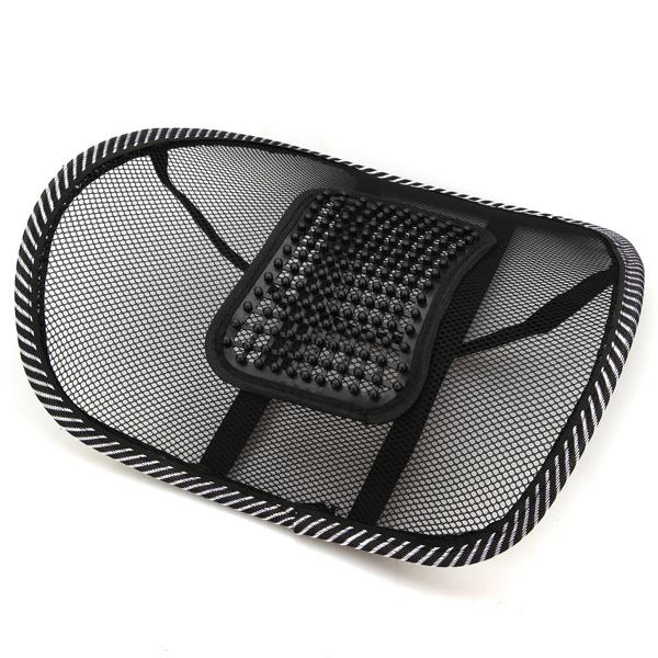 New Black Car Seat Chair Massage Back Lumbar Support Mesh