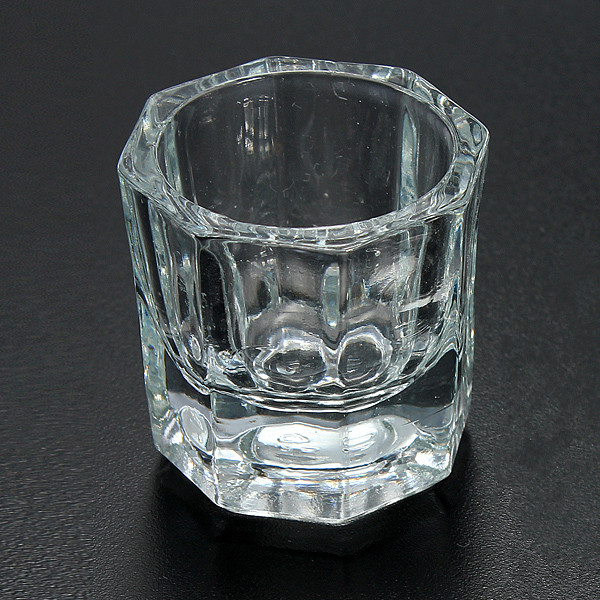 Professional Nail Art Crystal Glass Cup For Acrylic Liq