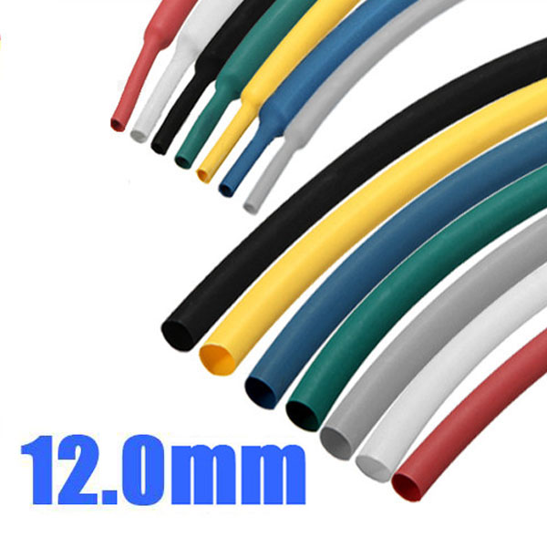 Buy 1M 12.0mm 7 Color 2:1 Polyolefin Heat Shrink Tubing Tube Sleeving Wrap