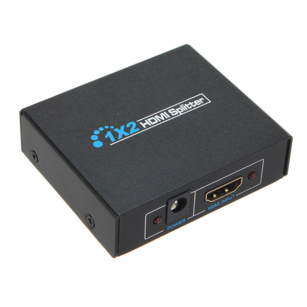 1 X 2 Port HDMI To HDMI Switcher Amplifier Box for HDTV PS3 TV 1080P