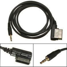 1.5M Music Interface AMI MMI to 3.5mm Audio AUX MP3 Adapter Cable For VW AUDI A3