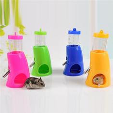 2 In 1 Plastic Hamster Water Bottle Hut Rat Mouse Pet Drinking Feeder House Dispenser