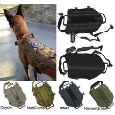 Army Tactical Dog Vests Hunting Dog Training Molle Vest Outdoor Military Dog Clothes